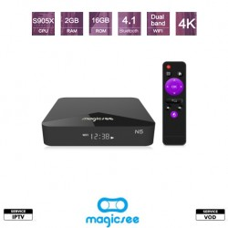 Pack MAGICSEE N5 Android TV + Abonnement IPTV 12 mois